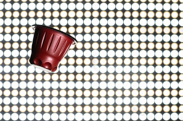 Rode espressocapsule, koffiepads