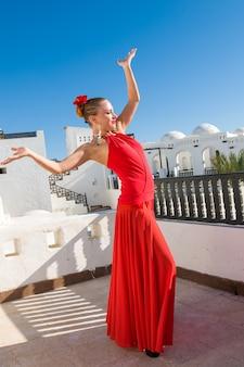 Rode flamenco danser