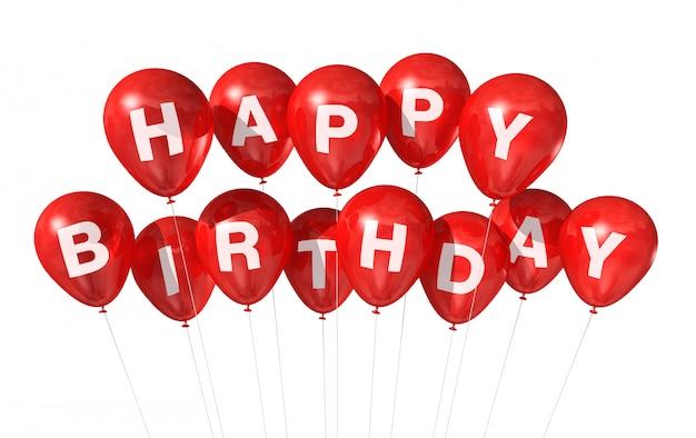 Rode gelukkige verjaardag ballonnen
