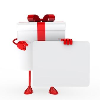 Rode gift met een bord