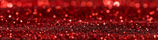 Rode glinsterende glitter