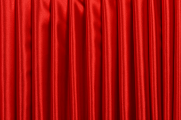 Rode gordijn close-up