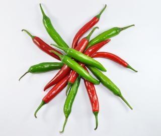 Rode & groene chilipeper