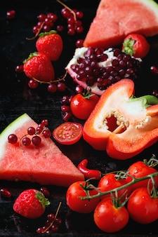 Rode groenten en fruit