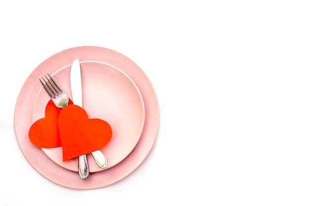 Rode harten en bestek