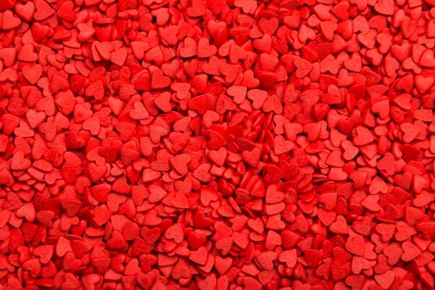 Rode harten. symbool van de liefde