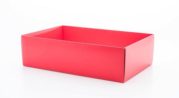 Rode kartonnen doos