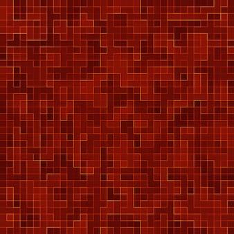Rode keramische glas kleurrijke tegels mozaïek samenstelling patroon achtergrond.