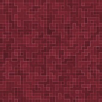 Rode keramische glas kleurrijke tegels mozaïek samenstelling patroon.