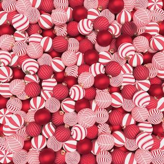 Rode kerstballen patroon