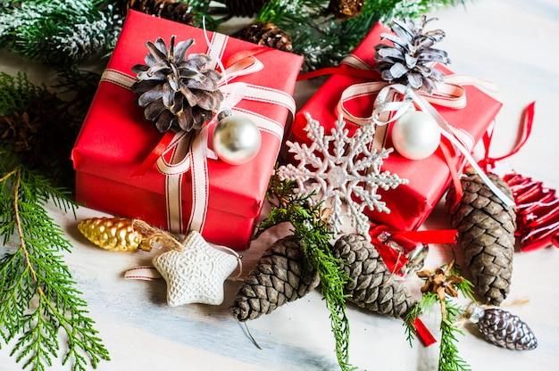 Rode kerstcadeaus