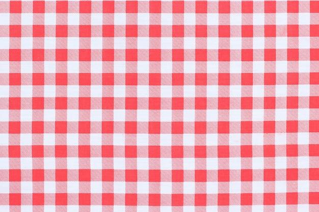 Rode klassieke geruite tafelkleed textuur achtergrond met kopie ruimte
