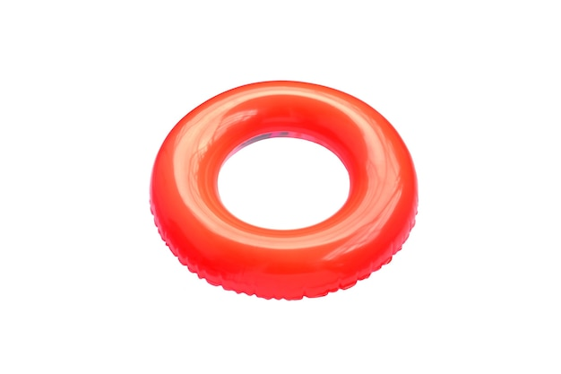 Rode kleur zwemmen ring geïsoleerd.