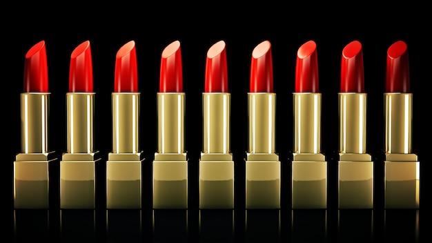Rode lippenstift 3d-rendering