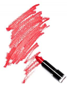 Rode lippenstift met sporen