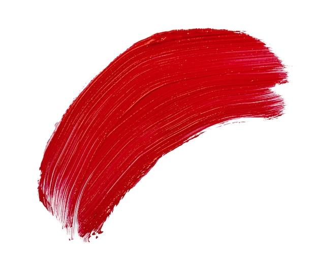 Rode lippenstift vlekken vlekken geïsoleerd op een witte achtergrond