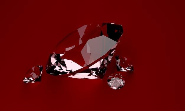 Rode loper op diamant