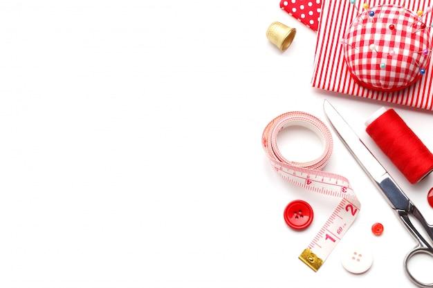 Rode naaien items