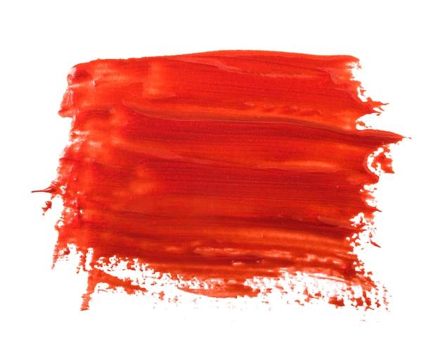 Rode nagellak (email) druppels monster, geïsoleerd op wit