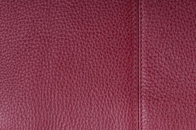 Rode natuurlijke leder textuur achtergrond