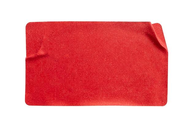 Rode papieren sticker label geïsoleerd op een witte achtergrond