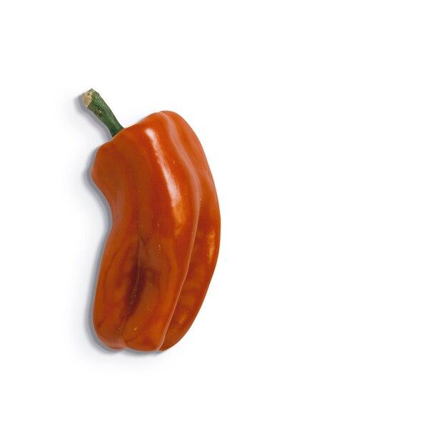 Rode paprika geïsoleerd op een witte achtergrond. geschikt voor uw voedselontwerpelement.