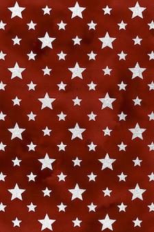 Rode patriottische achtergrond, digitaal aquarelpapier, sterpatroon