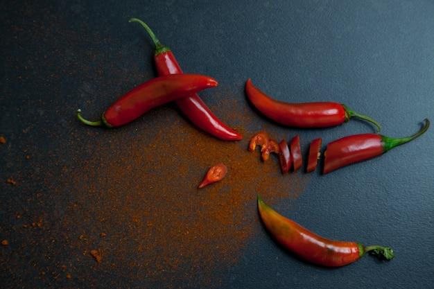 Rode peper en hete peper poeder