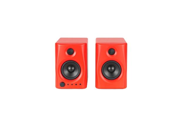 Rode plastic versterkers voor muziekluidsprekers