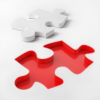 Rode puzzel om de missie te voltooien