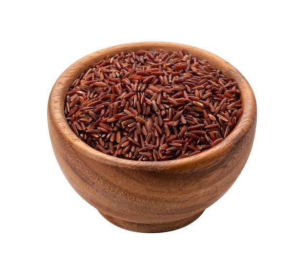 Rode rijst geïsoleerd