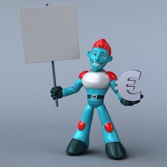Rode robot 3d-afbeelding
