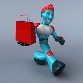 Rode robot - 3d illustratie