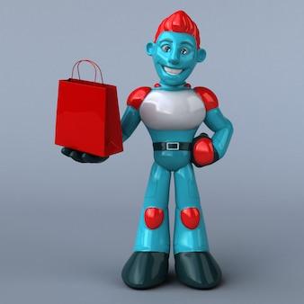 Rode robot illustratie