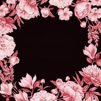 Rode rozen frame.