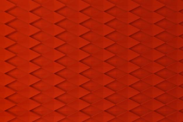 Rode ruit vorm 3d muur voor achtergrond, achtergrond of behang
