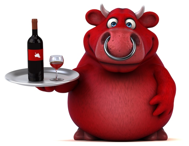 Rode stier - 3d illustratie