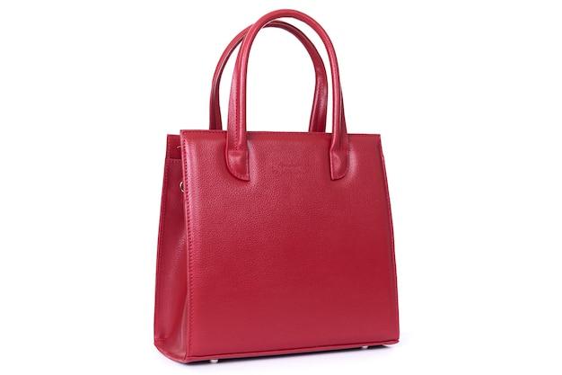 Rode stijlvolle dames leren tas