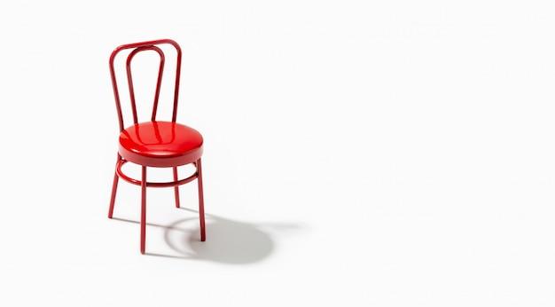 Rode stoel geïsoleerd