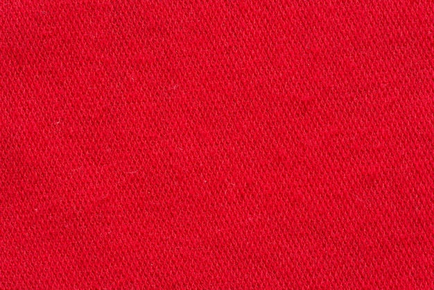 Rode stof canvas macro schot als textuur of achtergrond