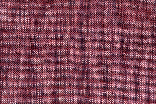 Rode textiel met geruit patroon, close-up.