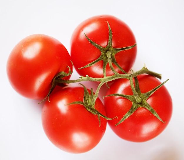 Rode tomaten op een groen takje