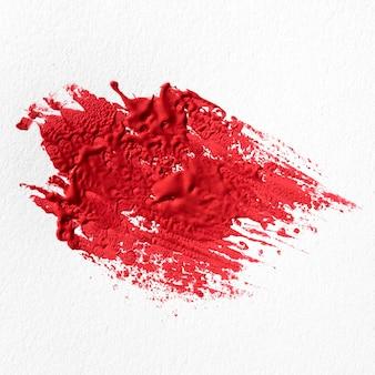 Rode verf vlek abstracte kunst