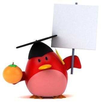 Rode vogel - 3d-personage