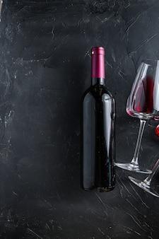 Rode wijnfles