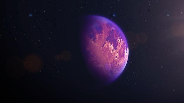 Rode woestijn exoplaneet