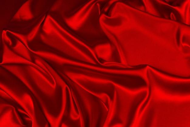 Rode zijde of satijn luxe stof textuur