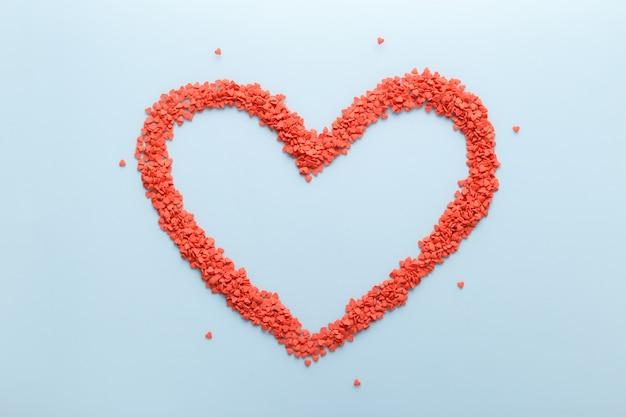 Rode zoete snoepjes hartvorm