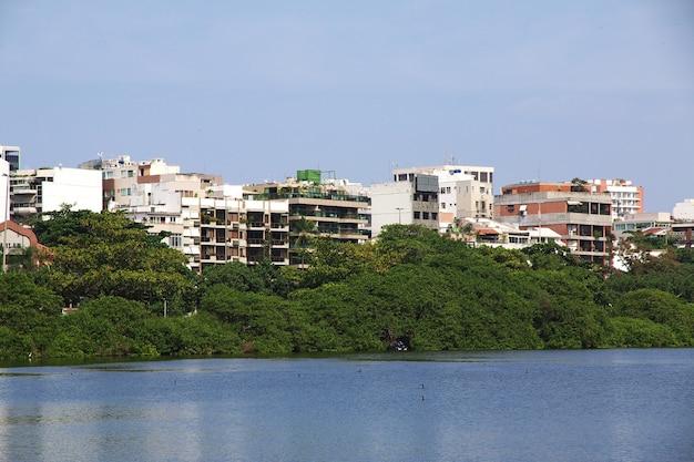 Rodrigo de freitas-lagune in rio de janeiro, brazilië