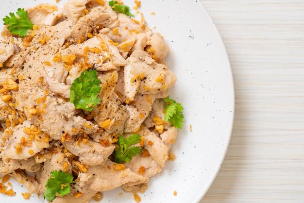Roergebakken kip met knoflook